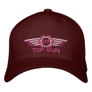 Your Top Gun Monogram Aviation Laurels Pilot Wings Embroidered Hat