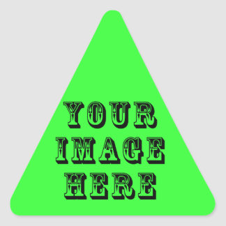 Your Vacation Picture on Triangle Sticker