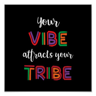 Your Vibe Attracts Your Tribe meme Poster
