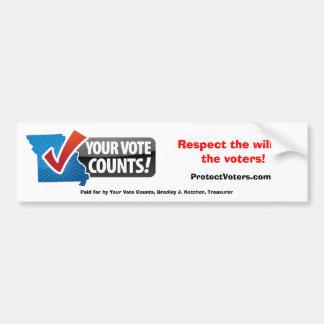 Your Vote Counts bumper sticker