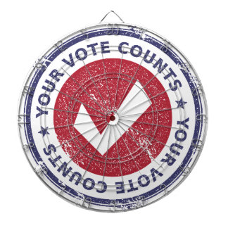 your vote counts dartboard