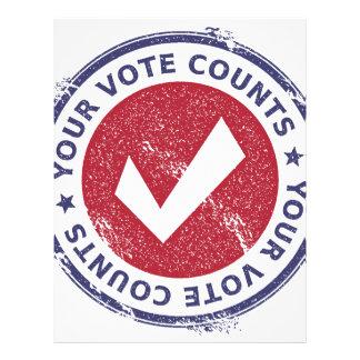 your vote counts letterhead template