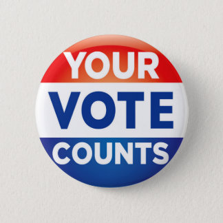 Your Vote Counts pattern 2 Inch Round Button