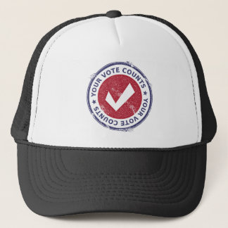 your vote counts trucker hat