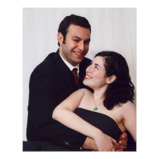Your wedding Pictures on Canvas Poster
