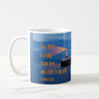 Your Word Is a Light Psalm 119:105 Bible Verse Coffee Mug