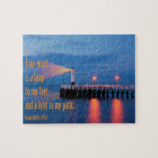 Your Word Is a Light Psalm 119:105 Bible Verse Jigsaw Puzzle