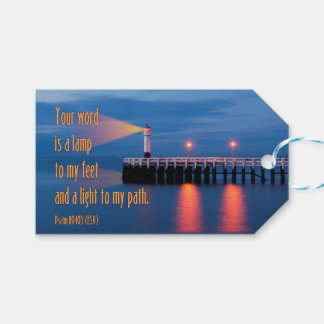 Your Word Is a Light Psalm 119:105 Bible Verse Pack Of Gift Tags