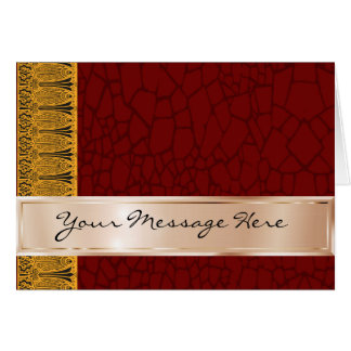 Your Words on Copper and Maroon with Deco Ornament Card