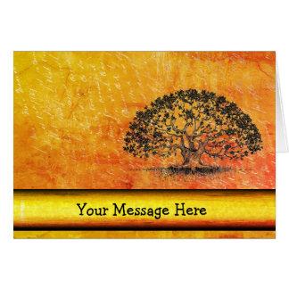 Your Words on Orange Blaze with Tree Card