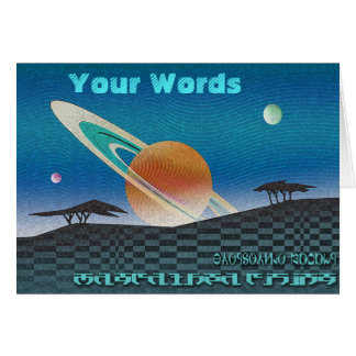 Your Words on Science Fiction Greeting Card