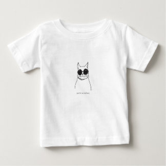 """You're a cool cat"" illustrated cat baby body Baby T-Shirt"