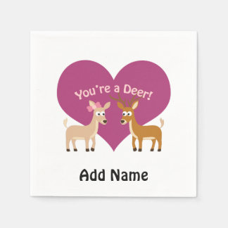 You're a deer! disposable napkins