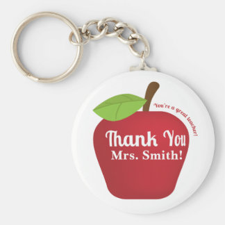 You're a great teacher! Teacher appreciation apple Basic Round Button Keychain