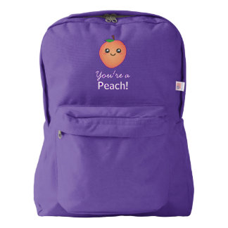 You're a Peach Sweet Kawaii Cute Funny Foodie Backpack