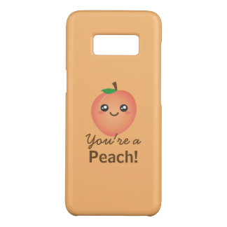 You're a Peach Sweet Kawaii Cute Funny Foodie Case-Mate Samsung Galaxy S8 Case