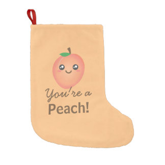 You're a Peach Sweet Kawaii Cute Funny Foodie Small Christmas Stocking