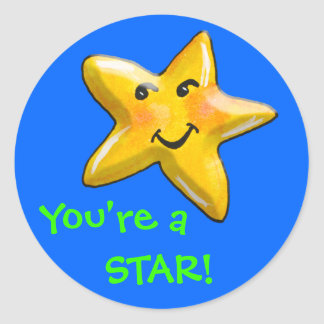 You're A Star Achievement Award Classic Round Sticker