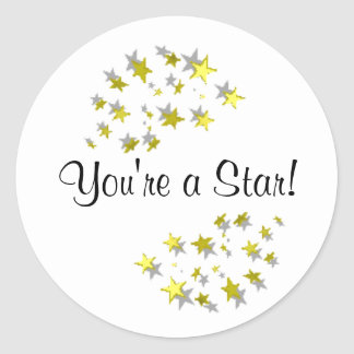 You're a Star! Classic Round Sticker