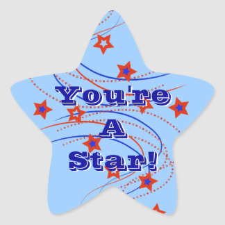 You're A Star! Fireworks & Stars Sticker Stars