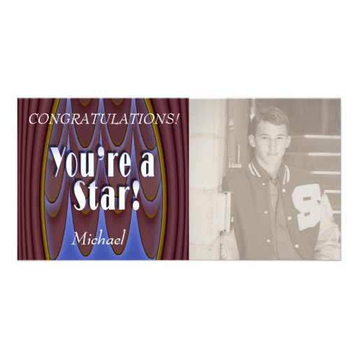 You're a Star! Photo Greeting Card