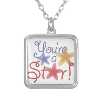 Youre A Star Silver Plated Necklace