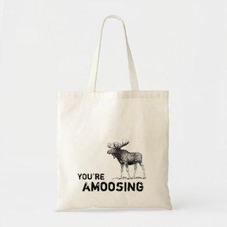 You're Amoosing Moose tote bag