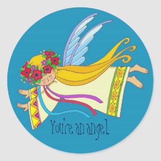 You're an Angel Classic Round Sticker