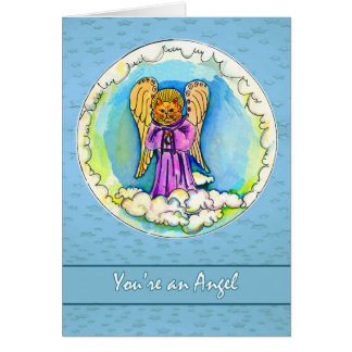 You're an Angel, Thank You to Volunteer Card