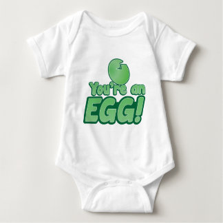 You're an EGG!  an awesome kiwi saying Baby Bodysuit