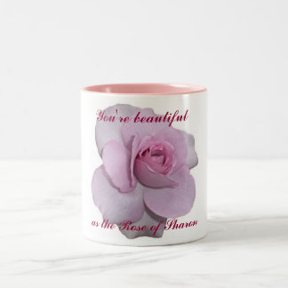 You're as Beautiful as the Rose of Sharon Two-Tone Coffee Mug