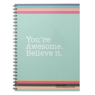 You're Awesome. Believe it. Notebook