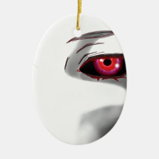 You're Being Watched Ceramic Oval Ornament