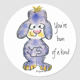 You're Bun Of A Kind - Cartoon Rabbit Sticker