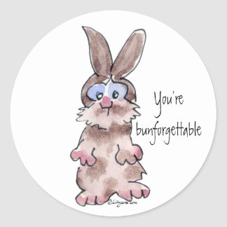 You're Bunforgettable - Cartoon Rabbit Sticker
