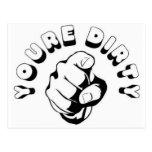You're Dirty Postcard