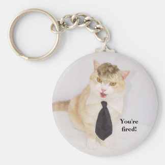You're fired! basic round button keychain