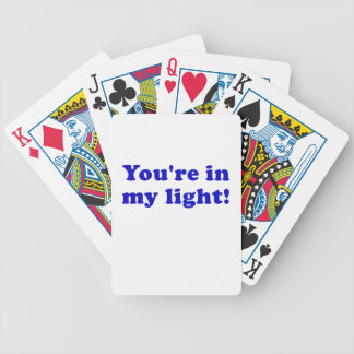 Youre in my Light Bicycle Playing Cards