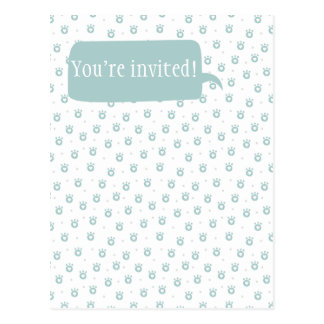 You're invited! Cute Pet Paws with Hearts Postcard