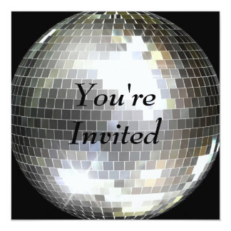 You're Invited - Disco Ball Card