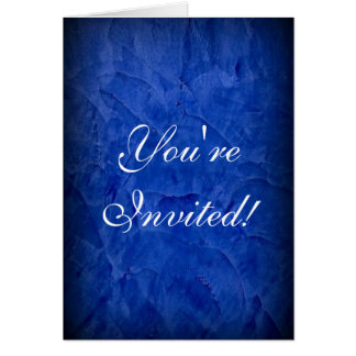 You're Invited! Dramatic Blue Stucco Card