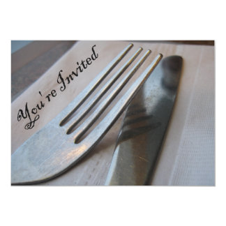 You're Invited Fork and Knife Close-Up Card