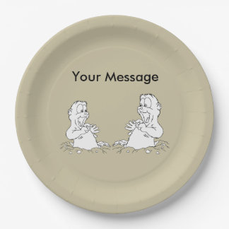 You're Invited! Groundhog Day Party Paper Plate 9 Inch Paper Plate