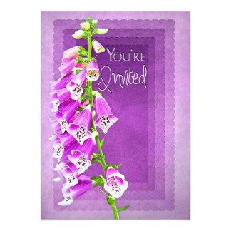You're Invited, INVITATION -PURPLE  Foxglove flora