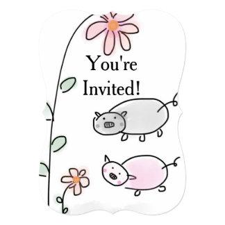 You're Invited Piggie Invitation
