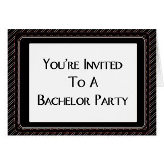 You're Invited To A Bachelor Party Greeting Card
