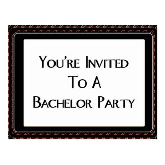 You're Invited To A Bachelor Party Postcard