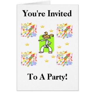 You're Invited To A Party! Card