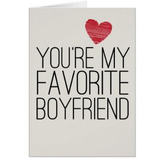 You're My Favorite Boyfriend Funny Love Card