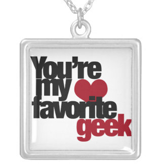 Youre my favorite nerd silver plated necklace